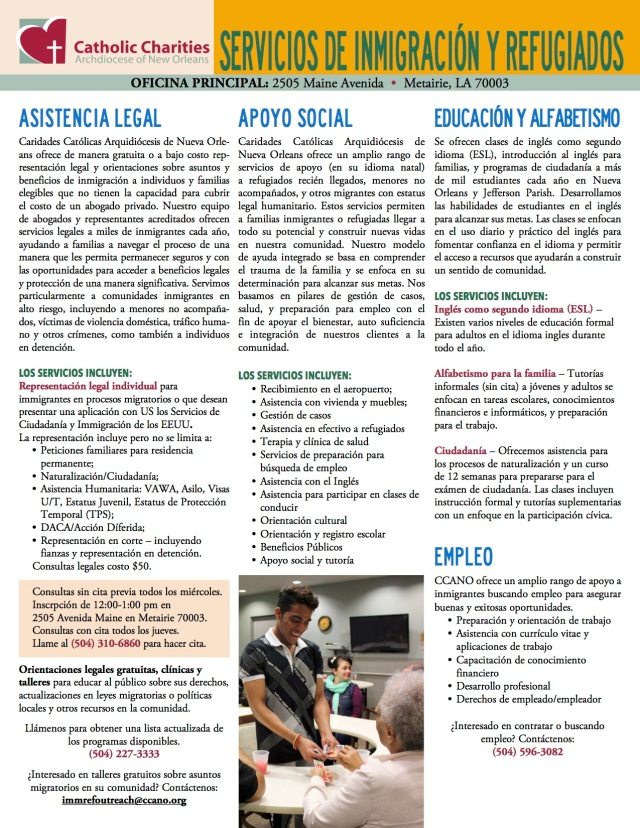 ccano-immrefesl 1-pager_spanish_nov 2018