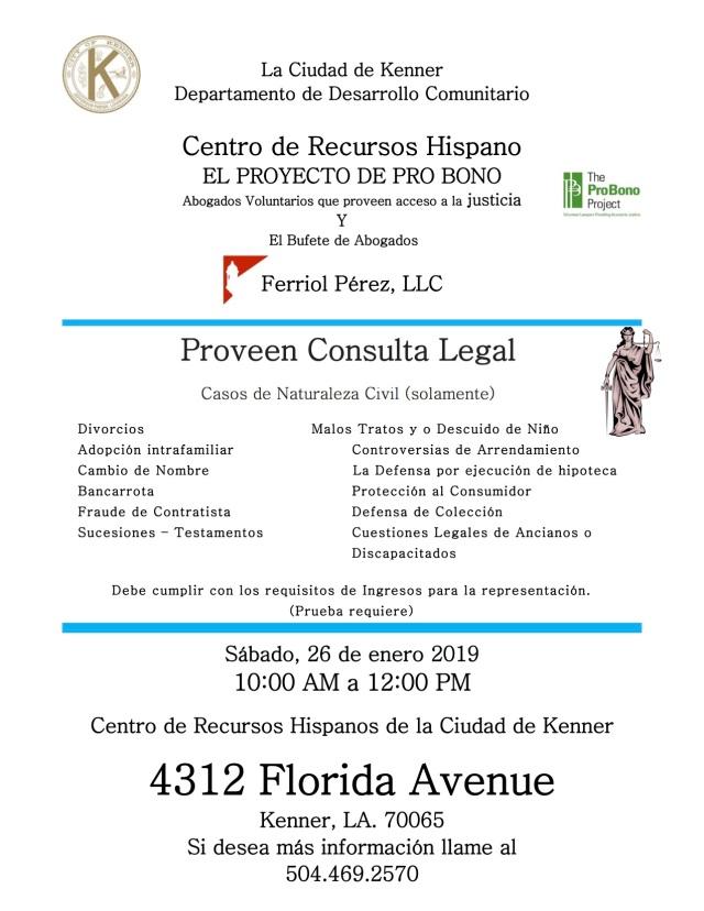 pro bono flyer - january 26, 2019 - english and spanish