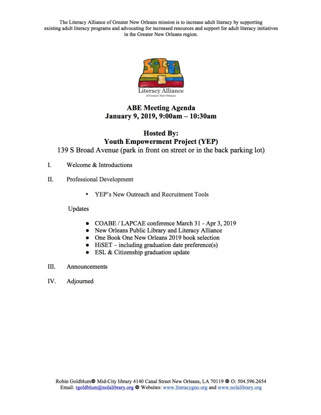 yep abe meeting agenda jan 2019