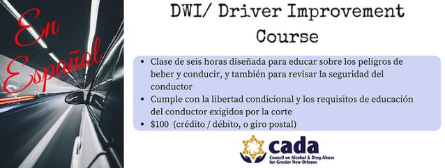 Spanish DWI class information