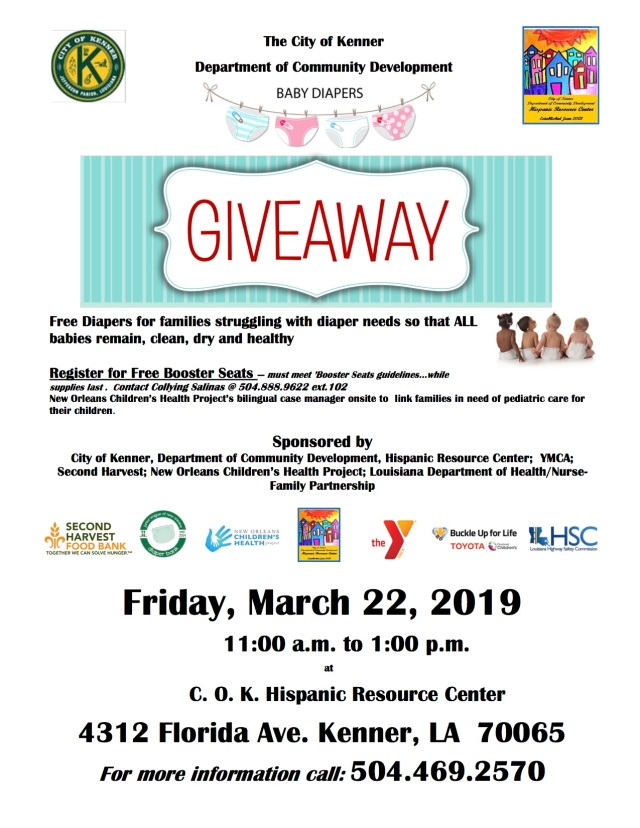 Diaper Giveaway - March 22, 2019