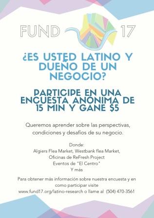 Encuesta Emprendimiento Hispano - Volante (Spanish) April