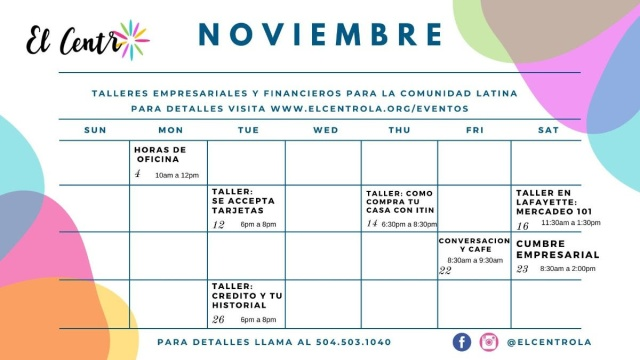 El Centro_November Calendar