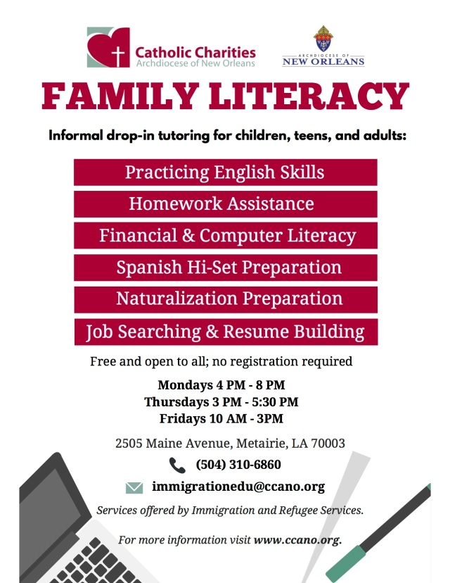 Family Literacy English Spanish 2020