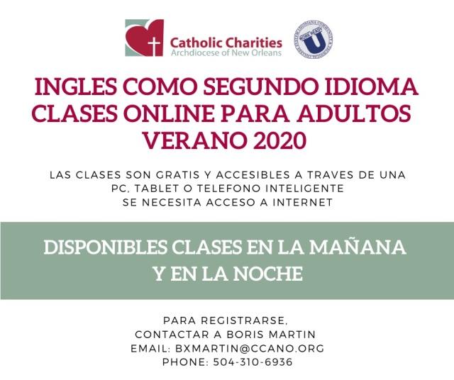 ESL online flyer spanish